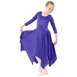 Danzcue Girls Long Sleeve Dressed Leotard