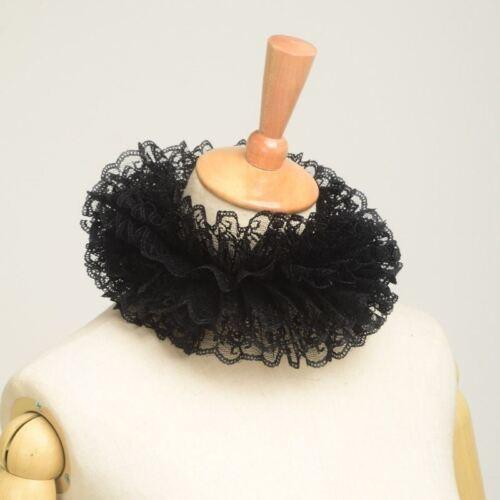 16//17 Inch Lace Tudor Elizabethan Neck Ruffled Collar Victorian Steampunk Gothic