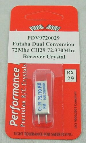 Futaba 72Mhz FM Dual Conversion Receiver Crystal Channel 29 PDV9720029 72.370