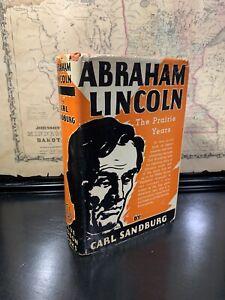Abraham Lincoln The Prairie Years By Carl Sandburg 1926 1st Edition HC/DJ RARE