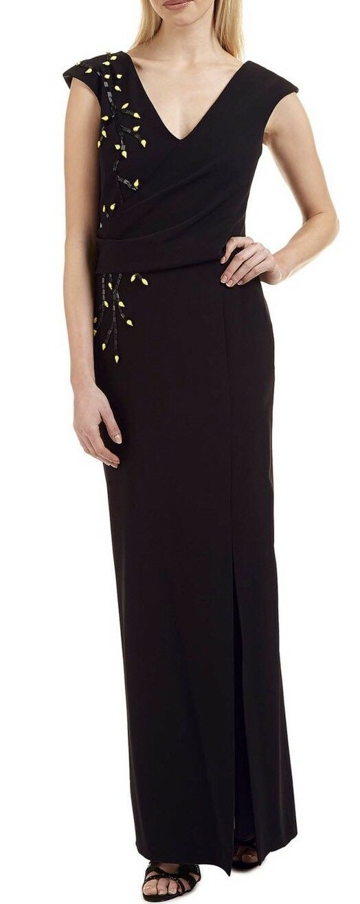 Ariella London schwarz Beaded 'Caitlyn' Dress - Größe 12 - BNWT