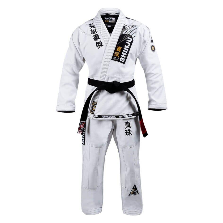 Jiu-jitsu BJJ Uniform Hayabusa Shinju3 Pearl Weave Jiujiusu GI Kimono White