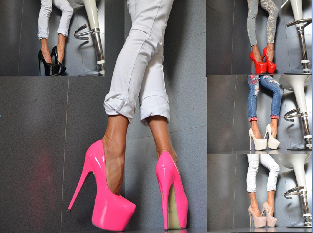 SERGIO TODZI Luxus Damenschuhe Club-Party Pumps XXL Plateau High Heels  NEON