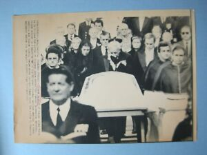 1982-Press-Wire-Photo-Prince-Rainier-Wipes-Tears-During-Princess-Grace-039-s-Funeral