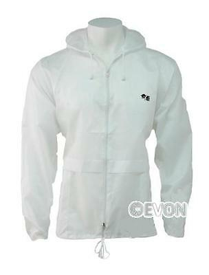 Bowls Lawn Bowling White Kagool Cagoule Unisex Hooded Rain Jacket Bowls logo