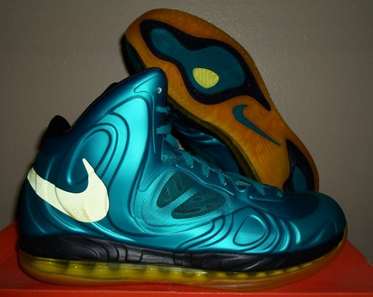 New Nike Air Max Hyperposite KD Foamposite Shoes Tropical Teal Yellow Size 11 US