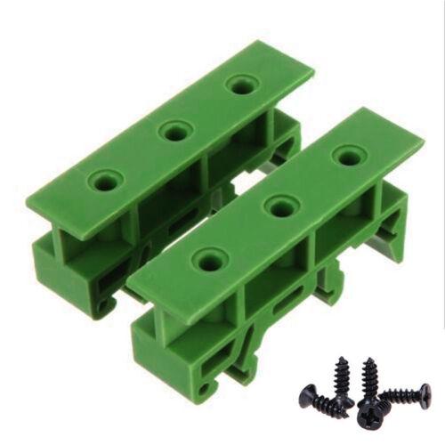 2Pcs PCB Din C45 Rail Adapter Circuit Board Mounting Bracket Holder Steady UK