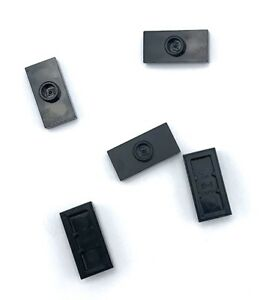 Lego-5-New-Black-Plate-Pieces-Modified-1-x-2-with-1-Stud-with-Grooves