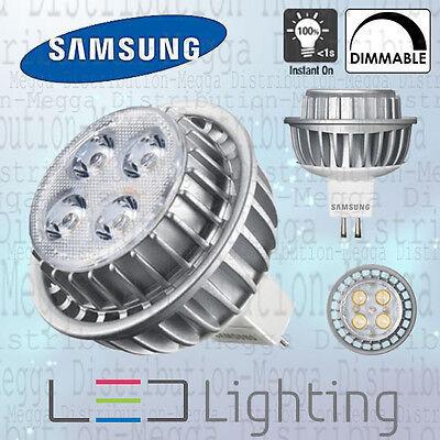 5 x Samsung DIMMABLE 7w MR16//GU5.3 LED 40D Spot Light Bulb Neutral White 4000k