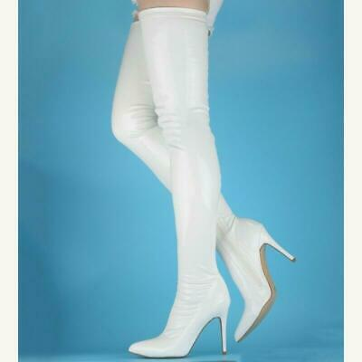 Women/'s Cosplay Costumes Cross Dresser Boots Stilettos Pointed Over Knee Boots