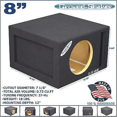 "8"" SINGLE VENTED SLOT PORTED SPEAKER SUB BOX SUBWOOFER ENCLOSURE GROUND-SHAKER"