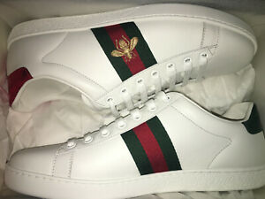 0c4dbe1aa41 NEW $650 GUCCI Women Ace Embroidered Leather Sneakers Shoes EU 36.5 ...