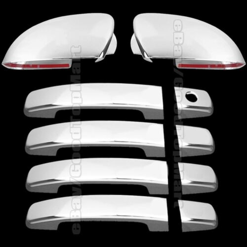 Chrome Covers Set Full Mirrors 4 Door Handles For 2004-2007 2008 Nissan MAXIMA