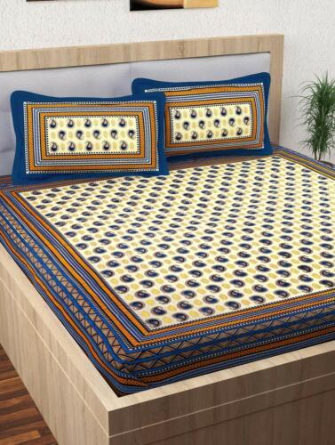 Indian Paisley Bed Cover Sheet Bohemian Decor Bedding Throw Queen Coverlet Set