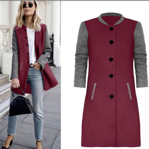 Womens Overcoat Casual Long Sleeve Cardigan Jacket Lady Coat Jumper KnitwearCoat