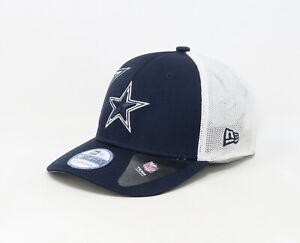 30f440eab Details about NEW ERA Dallas Cowboys Hat Stretch Flex Children Youth Kids  White Navy Mesh Cap