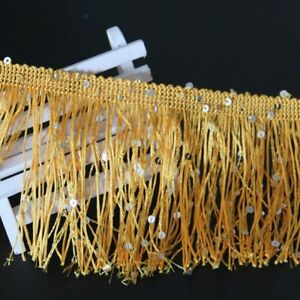1M Sequin Tassel Fringe Trim 15cm Dance Costume Dress Decor Sewing ... e3f855eeb
