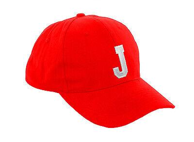 Children School RED Baseball Cap Boy Girl Snapback Kids Hat Letters A-Z LA  Child c9f1219ca8f3