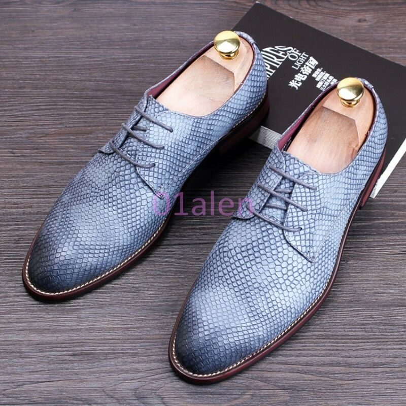 Uomo Snakeskin British Flat Oxford Oxford Oxford Dress Formal Strappy Business Pumps Hot Shoes 3b3ad4