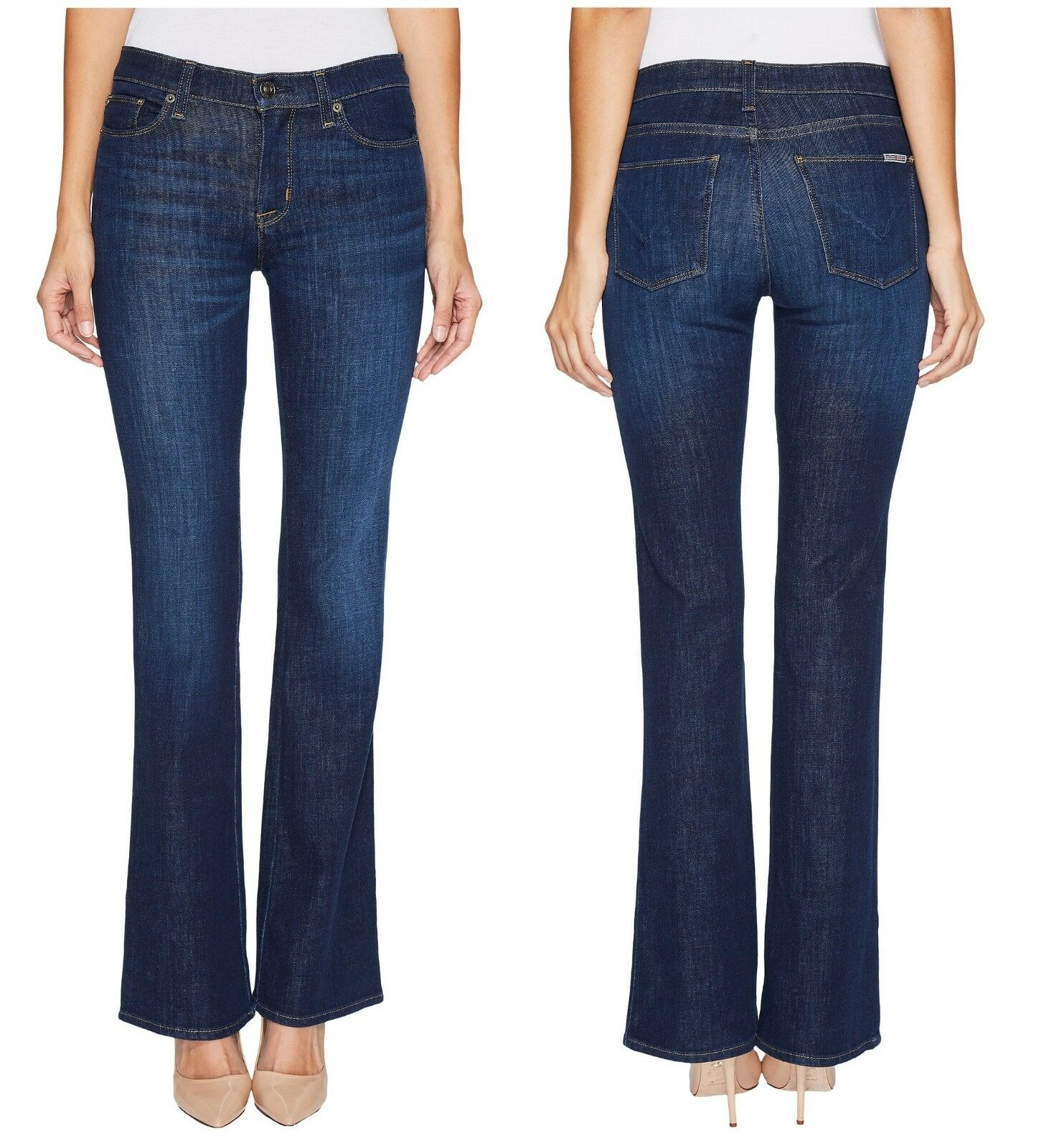 New Hudson Designer Brand Women MidRise Drew BootCut Stretchy Denim Jeans