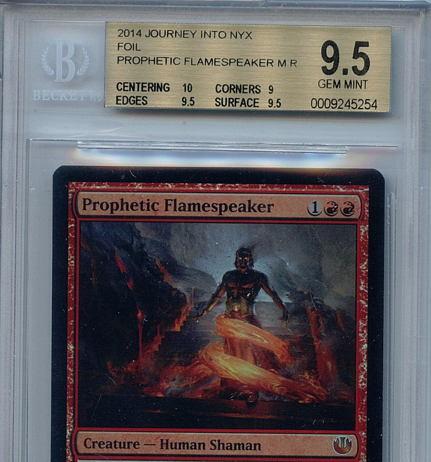 MTG Prophetic Flamespeaker BGS 9.5 Journey Journey Journey Into Nyx Magic Card Mystic Foil 7d78b9