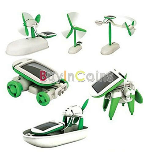 6 in 1 Solar DIY Educational Kit Toy Boat Fan Car Robot BA