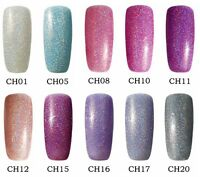 Bluesky CH HOLOGRAPHIC GLITTER UV/LED Soak Off Gel Nail Polish 10ml Free Postage