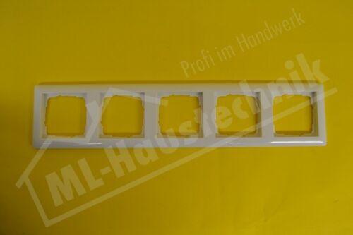 Gira 021503 Rahmen 5-fach reinweiss glänzend Standard 55 bruchsicher