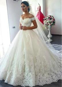 Wedding Dresses Bridal Ball Gowns Princess Off Shoulder Plus Size 4 ...