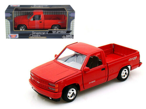1992 Chevrolet SS454 Pick Up Truck Red 1//24 Scale Diecast Model Motor Max 73203