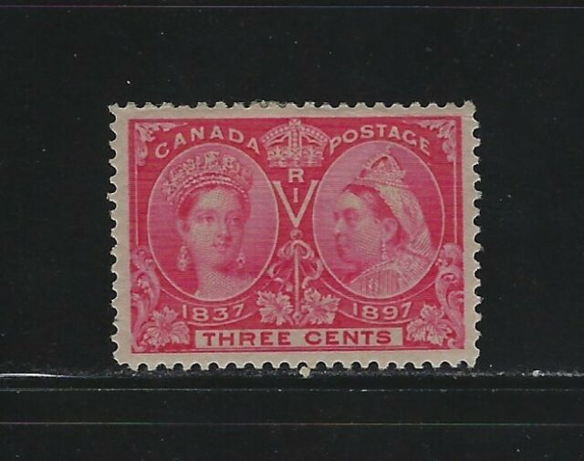 CANADA - #53 - 3c QUEEN VICTORIA DIAMOND JUBILEE VF MINT STAMP MH
