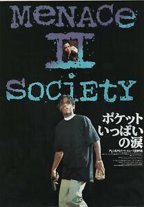 Menace II Society 1993 B Allen Albert Hughes Japan Chirashi Movie Flyer B5
