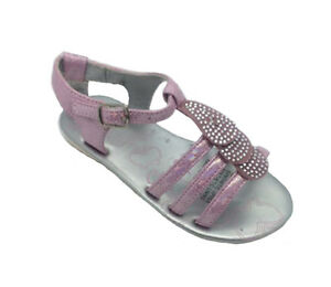 Girls Shoes Grosby Caroline Pink or Silver Sandals Leather Lining Size 4-9 NEW