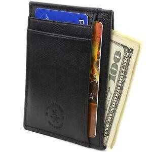 image is loading hammer anvil minimalist front pocket wallet rfid blocking - Leather Card Holder Wallet