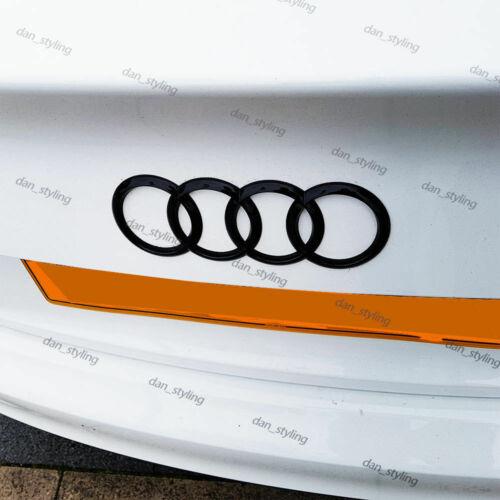 Schwarz glänzendes Logo für Hinterringe für Audi A1 A2 A3 A4 A5 A6 192x62mm