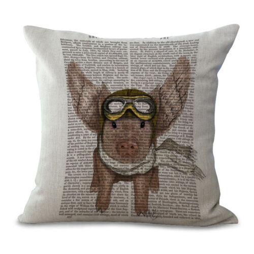 Lovely Livestock Animals Pig Printing Pillow Case Couch Cushion Cover Home Decor