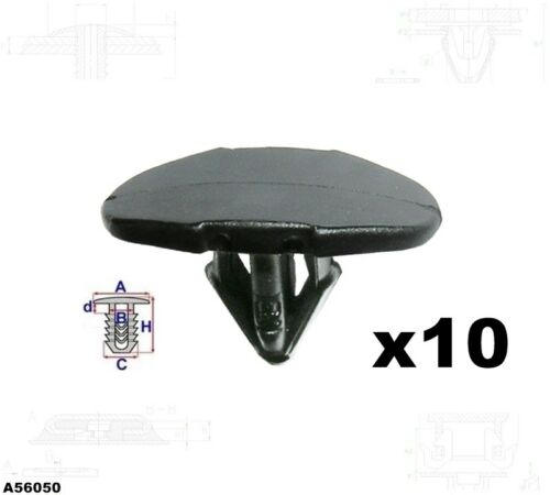 10x Portière Joint Fixation Clips RENAULT CITROEN PEUGEOT a56050