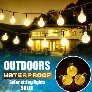50-LED-Ball-Solar-Powered-String-Light-Garden-Yard-Lamp-Outdoor-Xmas-Party-Decor