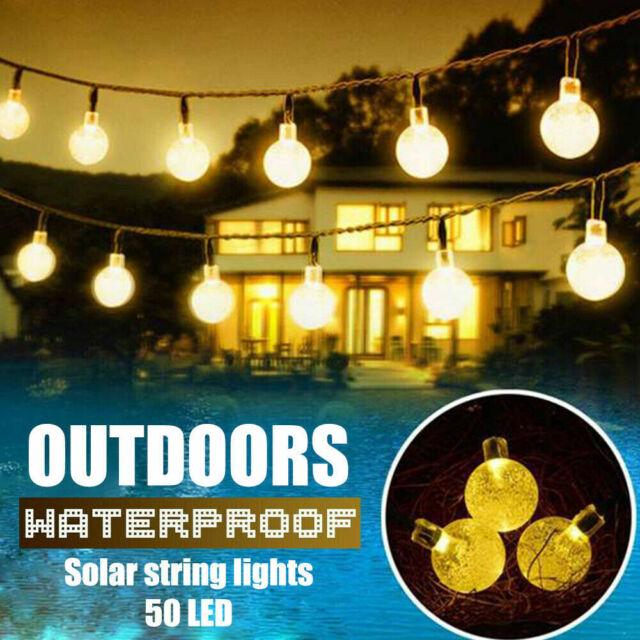 Solar 50 LED Powered String Light for Garden Yard Lamp Outdoor Xmas Party Decor