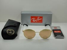 RAY-BAN ROUND SUNGLASSES RB3537 001/2Y GOLD FRAME/COPPER MIRROR LENS 51MM NEW!