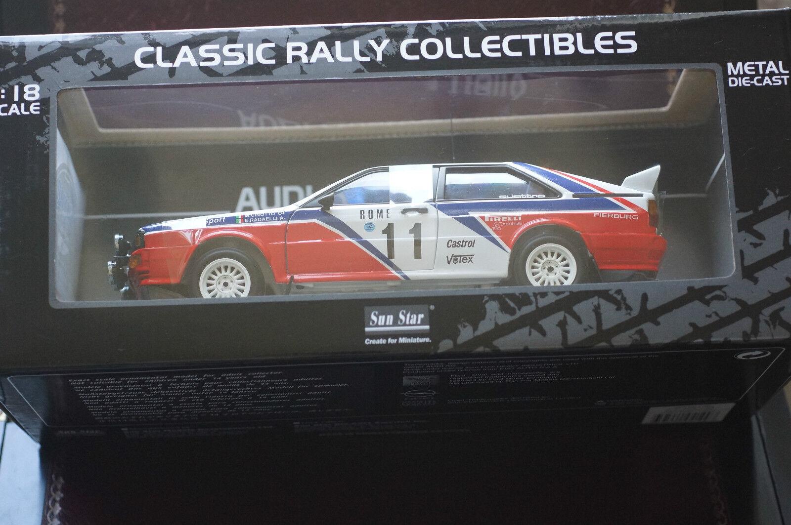 Sunstar 1 18 Audi Quattro Race Series Mint Box Big Model Stunner Numbered Ltd Ed