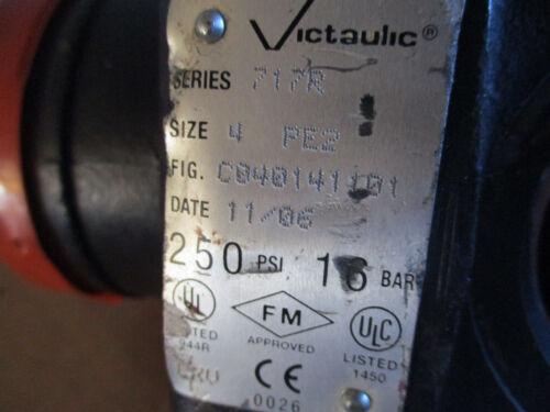 "Victaulic FireLock Check Valve Series 717 R 4/"" 114,3 MM C040141101 250 PSI *NEW"