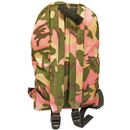 Cute Pink Camo Pattern School Backpack Outdoor Sports Girls Everyday Book Carry