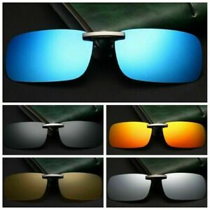 HongMong Clip-on Polarized Unisex Flip Sunglasses Over Up Prescription Glasses Driving