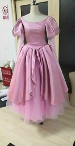 Adult The Little Mermaid Princess Ariel Pink Gown Tulle Dress Costume Cosplay Ebay