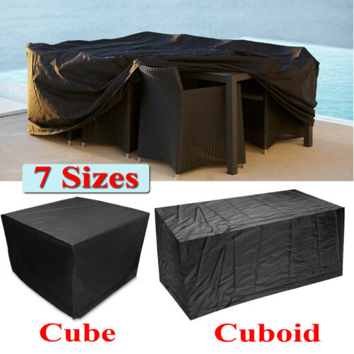 Imperm giardino mobili per esterni Set copre Rattan Sedia Tavolo Polvere UV Block
