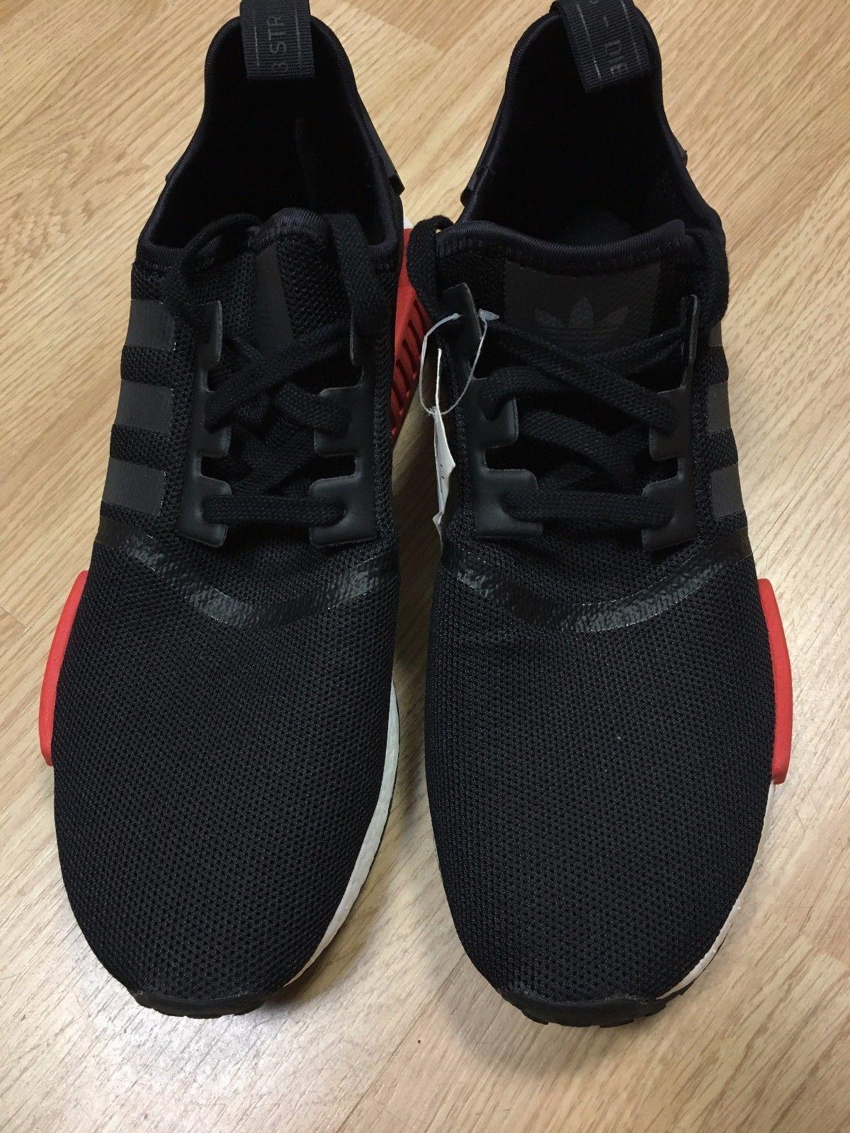 Adidas nmd r1 rosso - nucleo rosso r1 - bianco - nero (bb1969 allevati autentico rari 97e959
