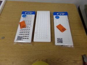 Details about NEW Decor Grates PL412-WH White Plastic Floor Registers, Lot  of 3