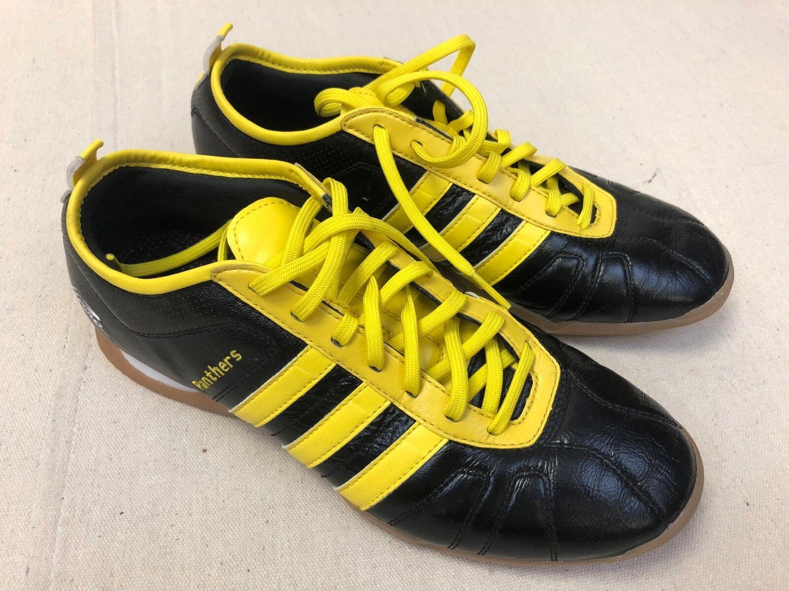 Adidas AdiPure Sz 8.5 Panthers Black Yellow Athletic shoes Medium Fit S12