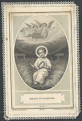 estampa de Puntilla Canivet Niño Jesus andachtsbild santino holy card santini